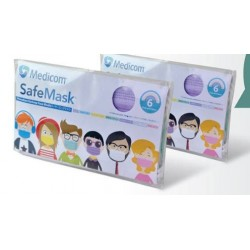 SafeMask便攜包裝成人彩色口罩(6個)